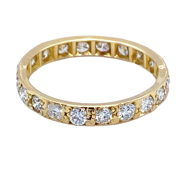 Gold and Diamond Eternity Ring - image 1