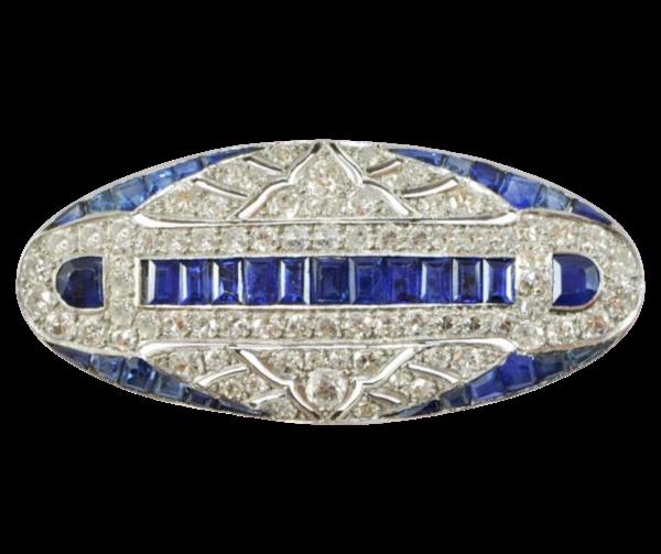 Sapphire And Diamond Brooch - image 1