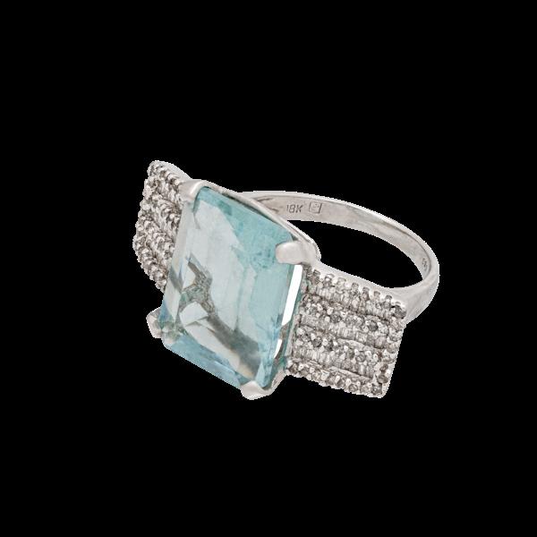Aquamarine ring - image 1