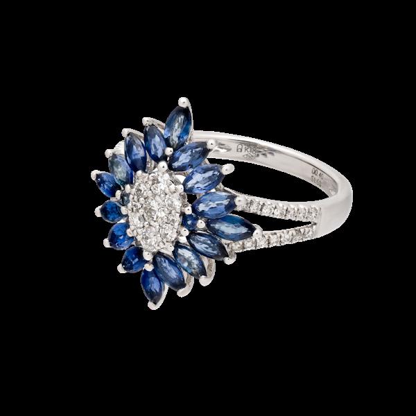 Art Deco style sapphire ring - image 1