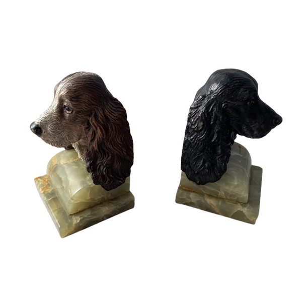1930's Cold Painted Bronze Bookends, SHAPIRO & Co - image 1