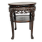 Chinese marble topped wood stand with prunus blossom carving - image 1