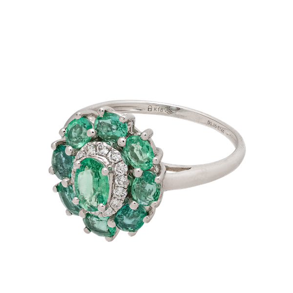 Oval emeralds ring - image 1