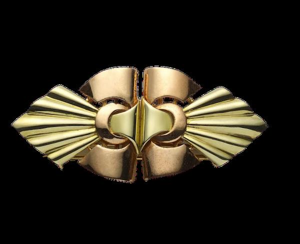 Larter & Sons Gold Double Clip, Circa 1940 - image 1