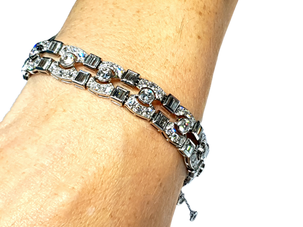 Art deco diamond bracelet  DBGEMS - image 1