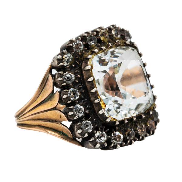 Early Victorian rock crystal ring - image 1