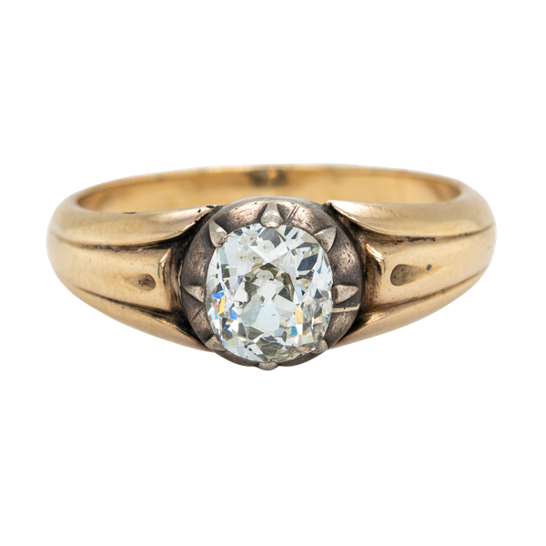 Victorian single stone diamond ring - image 1