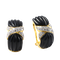 Clip Earrings Onyx and Diamond in 18ct Gold date circa 1970  SHAPIRO & Co since1979 - image 1