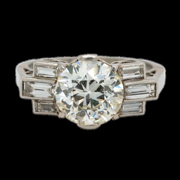 Art Deco diamond ring - image 1