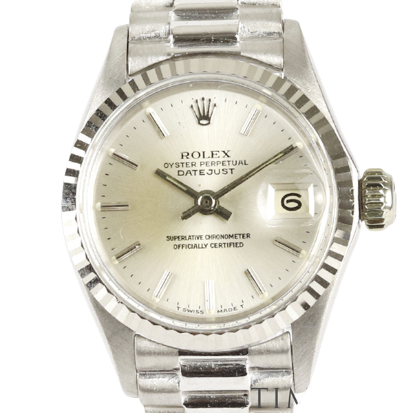 Rolex Lady Datejust 18K White Gold & Bracelet, 6517, Circa 1960s, 26mm - image 1