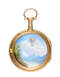GOLD AND ENAMEL POCKET WATCH WITH RARE BALLOONING SCENE - image 1