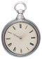 SILVER PAIR CASED RACK LEVER POCKET WATCH - image 1