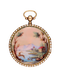 SMALL GOLD AND ENAMEL VERGE POCKET WATCH - image 1