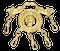UNUSUAL GILT METAL BROOCH - image 1