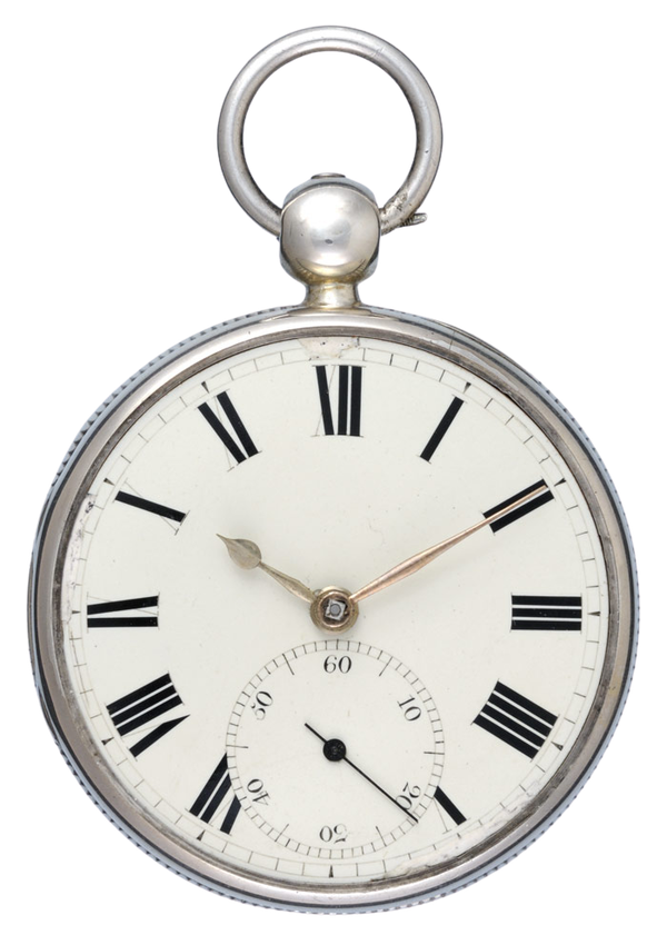 SILVER RACK LEVER POCKET WATCH - image 1
