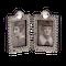 A silver antique double folding frame - image 1