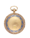 PEARL SET GOLD AND ENAMEL PENDANT WATCH - image 1