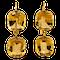 Victorian citrine drop earrings - image 1