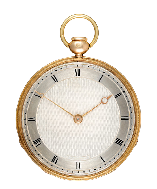 GOLD QUARTER REPEATING FRENCH CYLINDER POCKET WATCH - image 1