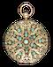 TURQUOISE SET GOLD SWISS LEVER - image 1