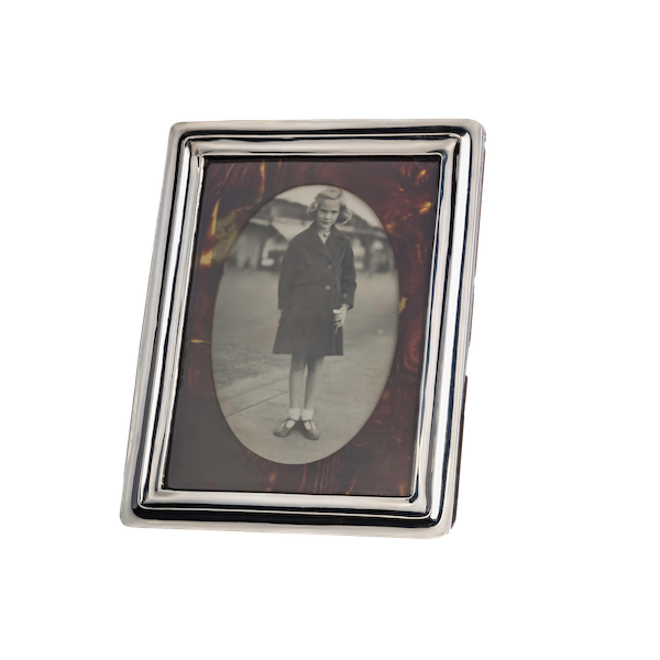A silver and tortoiseshell frame - image 1