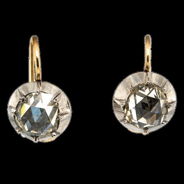 Georgian rose cut single stone earrings - image 1