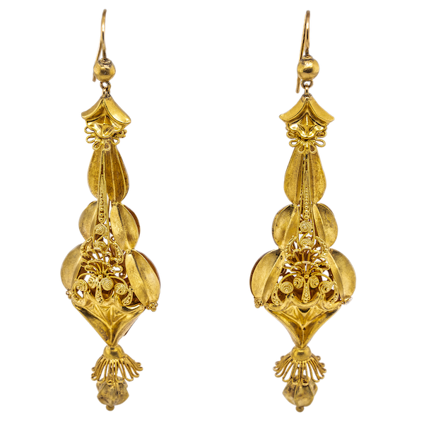 William IV gold drop earrings - image 1