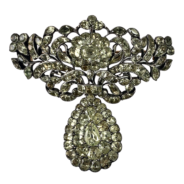 Eighteenth century chrysolite brooch - image 1