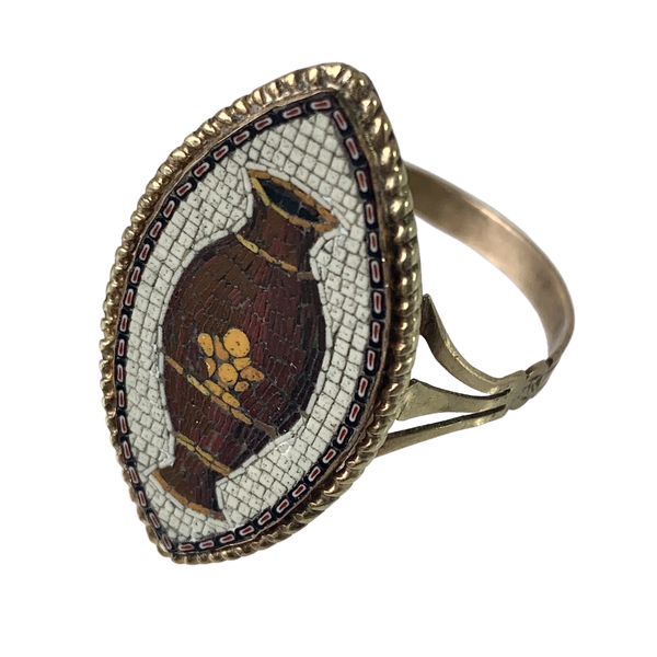 Italian micro mosaic ring - image 1