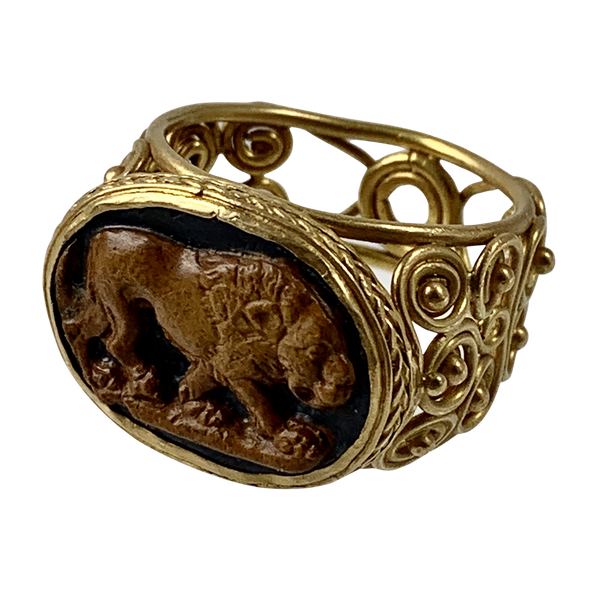 Ancient Roman cameo ring - image 1