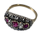 Ring with rubies and diamonds - image 1
