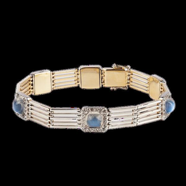 Moonstone and diamond bracelet - image 1
