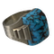 1930 white gold and turquoise ring - image 1