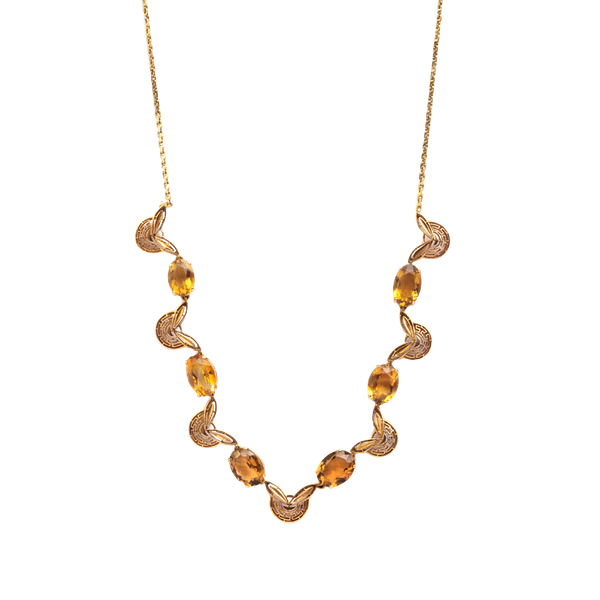 A 1970s Citrine Necklace - image 1