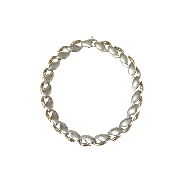 Vintage Swan Link Design Necklace in Silver and Gold, London dated 1979. - image 1