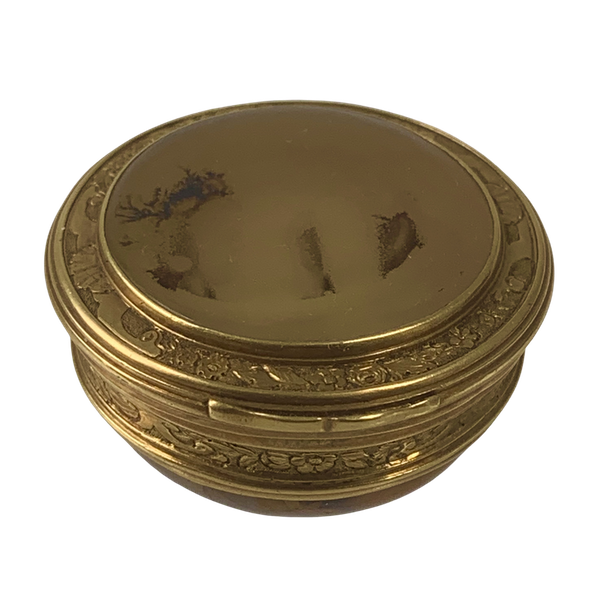 1720 gold and agate snuff box - image 1