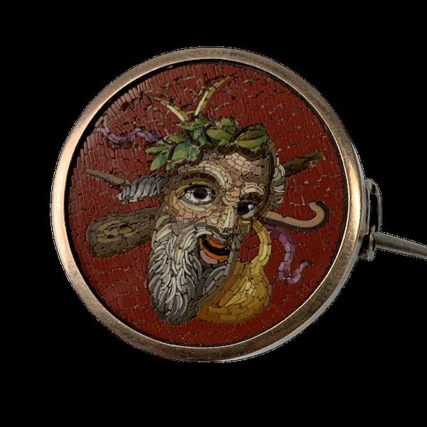 Micro mosaic brooch - image 1