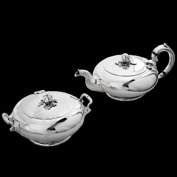 Russian Silver Tea Pot and Sugar Bowl, St. Petersburg, 1863 - image 1