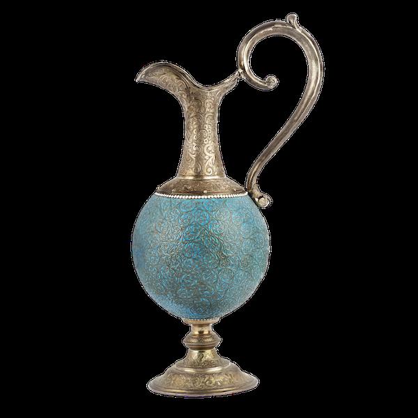 Russian Silver & Enamel Wine Jug, Moscow c. 1890 - image 1