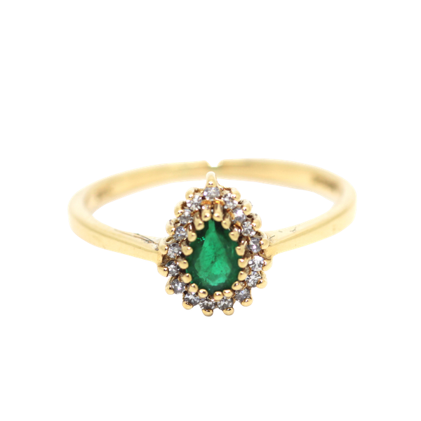 Pear Shaped Emerald Cluster Ring. S.Greenstein - image 1