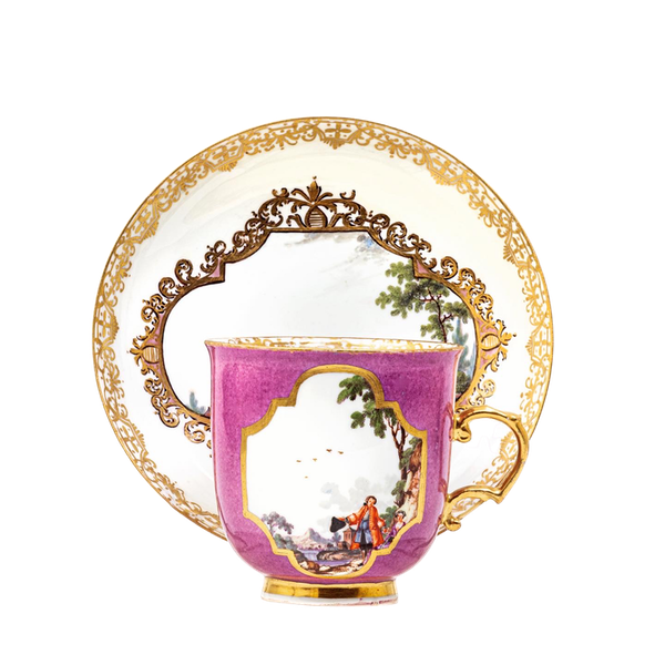 18th century Meissen cabinet cup and saucer - image 1