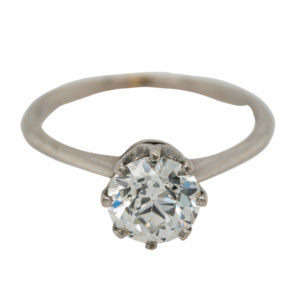 Diamond solitaire ring 1.46 ct - image 1