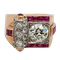 Retro diamond and ruby ring - image 1