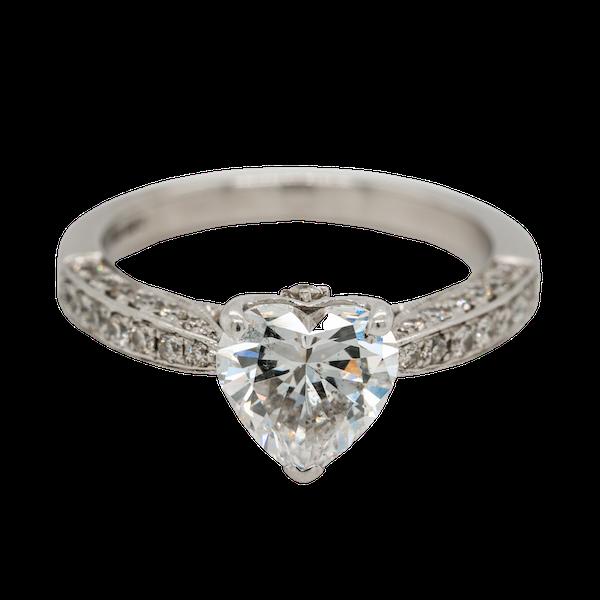 1.46 ct diamond heart cut ring - image 1
