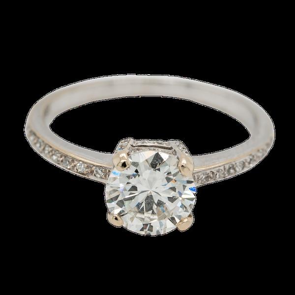 Diamond solitaire Ring . 1.20 ct est. centre diamond - image 1