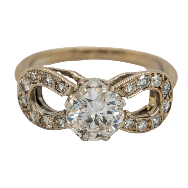 Diamond solitaire ring. Centre stone 1.10 ct est. - image 1