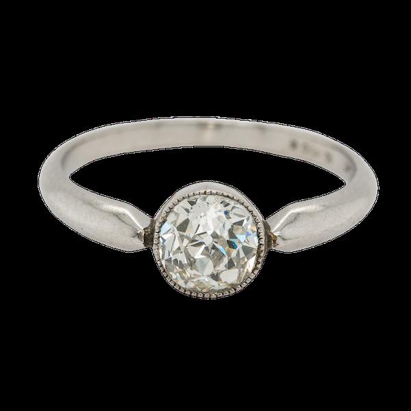 Diamond solitaire ring cushion cut 1.15 ct est. diamond - image 1