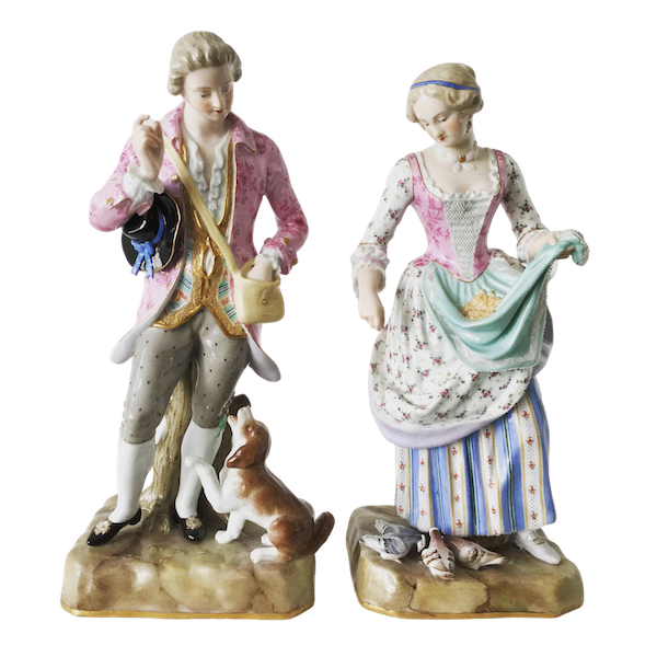 Pair of 19th century Meissen figures - image 1