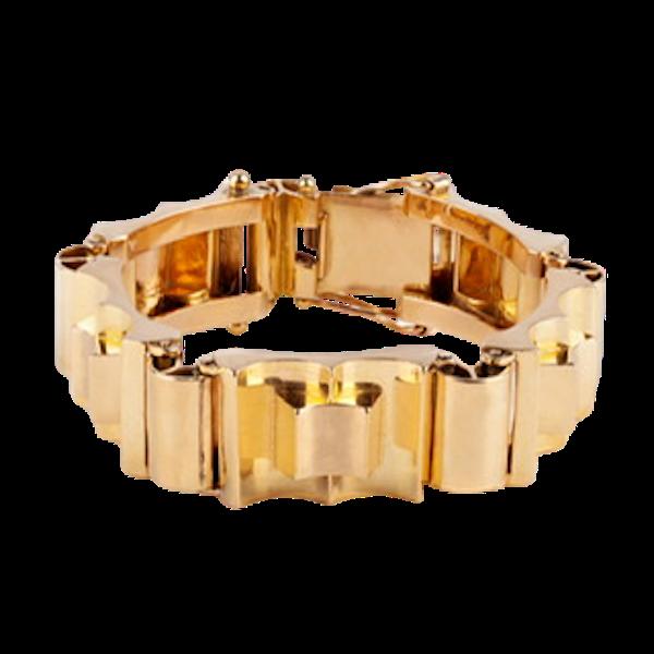 Retro gold bracelet - image 1