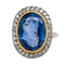 Large natural sapphire and diamond ring - image 1